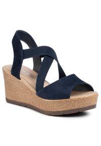 Niebieskie sandały Clara Barson casualowe, na co dzień, na obcasie