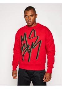 MSGM Bluza 2940MM92 207599 Czerwony Regular Fit. Kolor: czerwony