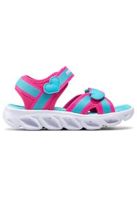 skechers - Sandały SKECHERS - Splash Zooms 20215L/HPTQ Hot Pink/Turquoise. Kolor: różowy, niebieski, wielokolorowy. Materiał: skóra ekologiczna, materiał