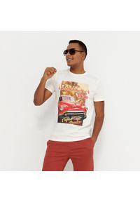 House - Koszulka z nadrukiem Havana - Kremowy. Kolor: kremowy. Wzór: nadruk