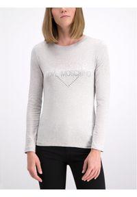 Love Moschino - LOVE MOSCHINO Bluzka W4G5207E 2065 Slim Fit. Kolor: szary