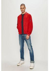 Czerwona kurtka Mustang casualowa, na co dzień