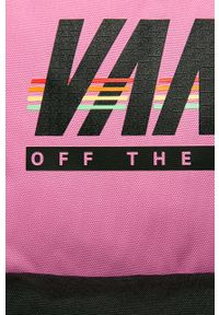 Różowy plecak Vans z nadrukiem