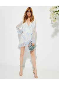 ROCOCO SAND - Sukienka mini Leas z głębokim dekoltem. Kolor: biały. Materiał: wiskoza, materiał. Wzór: kwiaty, aplikacja. Długość: mini