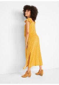 Długa sukienka ciążowa i do karmienia TENCEL™ Lyocell bonprix żółty w kwiaty. Kolekcja: moda ciążowa. Kolor: żółty. Materiał: lyocell. Wzór: kwiaty. Sezon: lato. Długość: maxi