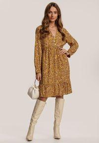 Renee - Żółta Sukienka Phislenne. Kolor: żółty
