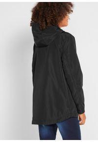 Czarna kurtka bonprix z nadrukiem, sportowa