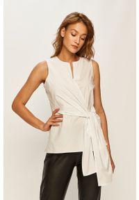 Biała bluzka DKNY bez rękawów, elegancka, na co dzień