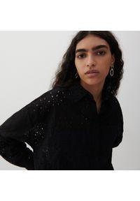 Reserved - Ażurowa koszula - Czarny. Kolor: czarny. Wzór: ażurowy