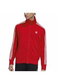 Czerwona bluza Adidas długa, sportowa, z długim rękawem