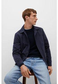 Niebieski sweter Mango Man długi, casualowy