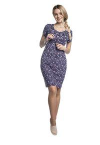e-margeritka - Sukienka ciążowa elegancka do karmienia - l. Okazja: na co dzień. Kolekcja: moda ciążowa. Materiał: wiskoza, dzianina, materiał, elastan. Sezon: lato. Styl: elegancki