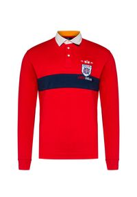 Czerwona koszulka polo La Martina polo, długa, sportowa