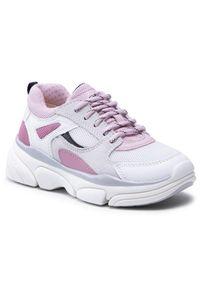 Geox - Sneakersy GEOX - J Lunare G. D J02BGD 01422 C0674 S White/Rose. Okazja: na co dzień. Kolor: biały. Materiał: skóra ekologiczna, skóra, materiał, zamsz. Szerokość cholewki: normalna. Styl: casual