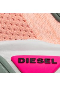 Pomarańczowe półbuty Diesel na płaskiej podeszwie, z cholewką