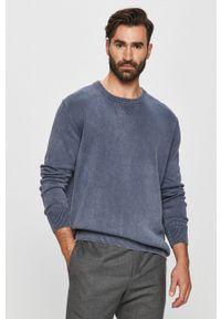 Niebieski sweter Pepe Jeans z okrągłym kołnierzem, casualowy
