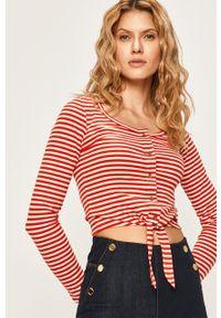 Czerwona bluzka z długim rękawem Pepe Jeans casualowa, na co dzień