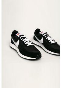Czarne sneakersy Nike Sportswear na sznurówki, z cholewką, z okrągłym noskiem