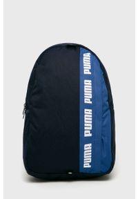 Niebieski plecak Puma z nadrukiem