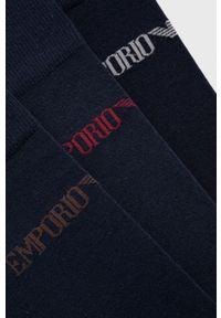 Emporio Armani Underwear - Skarpetki (3-pack). Kolor: niebieski
