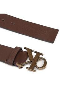 Calvin Klein Jeans - Pasek Męski CALVIN KLEIN JEANS - Mono Plaque Belt 35mm K50K506548 BAP. Kolor: brązowy. Materiał: skóra