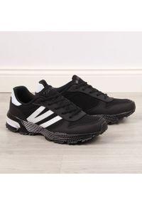 Buty sportowe męskie czarne Atletico. Kolor: czarny. Materiał: materiał