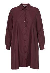 Zhenzi Szmizjerka Kari burgundowy female czerwony 46/48 (M). Kolor: czerwony. Materiał: tkanina. Długość rękawa: długi rękaw. Wzór: gładki. Typ sukienki: szmizjerki. Styl: elegancki