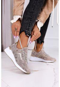 Filippo - Złote sneakersy filippo metalizowane buty sportowe sznurowane skórzane dp2003/21go. Kolor: złoty. Materiał: skóra