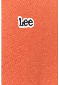 Pomarańczowa bluza nierozpinana Lee casualowa, na co dzień, z kapturem
