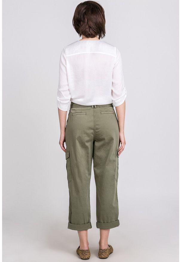 Zielone spodnie Monnari na co dzień, casualowe
