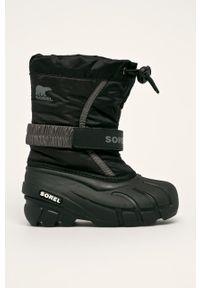 Buty zimowe sorel z okrągłym noskiem, na rzepy, na zimę