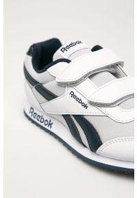 Białe buty sportowe Reebok Classic z okrągłym noskiem, z cholewką, Reebok Royal