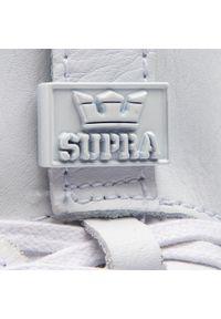 Białe półbuty Supra z cholewką