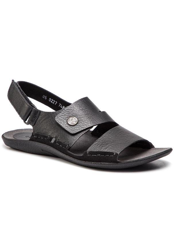 Czarne sandały Nik na lato