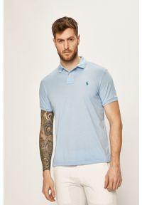 Niebieska koszulka polo Polo Ralph Lauren casualowa, gładkie, krótka, polo