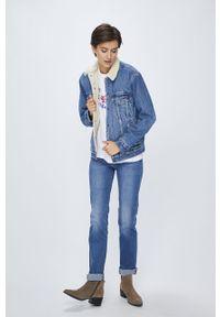 Niebieska kurtka Levi's® na spotkanie biznesowe, w kolorowe wzory