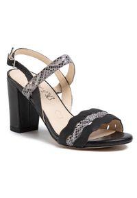Czarne sandały Caprice casualowe, na co dzień