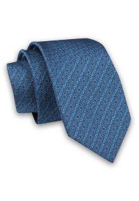Niebieski krawat Angelo di Monti w kwiaty, elegancki