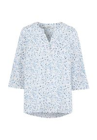 Cellbes Wzorzysta bluzka bawełniana z rękawem 3/4 biały w kwiaty female biały/ze wzorem 34/36. Kolor: biały. Materiał: bawełna. Długość: krótkie. Wzór: kwiaty