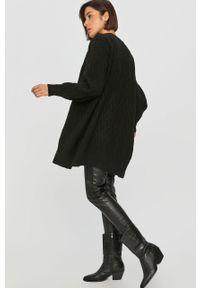Czarny sweter rozpinany Answear Lab na co dzień, wakacyjny, z długim rękawem