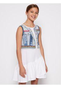 Desigual Sukienka codzienna Cuautitla 20SGVK35 Biały Regular Fit. Okazja: na co dzień. Kolor: biały. Typ sukienki: proste. Styl: casual