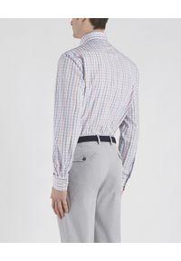 PAUL & SHARK - Biała koszula w kratkę. Kolor: szary. Materiał: bawełna. Długość rękawa: długi rękaw. Długość: długie. Wzór: kratka. Sezon: lato. Styl: vintage, elegancki
