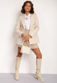 Renee - Jasnobeżowa Marynarka Cileia. Kolor: beżowy. Styl: glamour, klasyczny #5