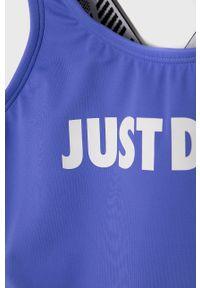 Fioletowy strój jednoczęściowy Nike Kids z nadrukiem
