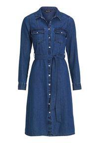 Happy Holly Sukienka dżinsowa Doris dark denim female niebieski 32/34. Kolor: niebieski. Materiał: denim. Długość rękawa: długi rękaw