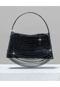 BENEDETTA BRUZZICHES - Torebka z kryształów Lucia in The Sky Deep Black. Kolor: czarny. Styl: wizytowy. Rodzaj torebki: do ręki