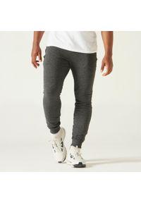 NYAMBA - Spodnie dresowe fitness slim. Materiał: dresówka. Sport: fitness