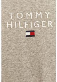TOMMY HILFIGER - Tommy Hilfiger - T-shirt. Okazja: na co dzień. Kolor: szary. Materiał: bawełna, dzianina. Wzór: nadruk. Styl: casual