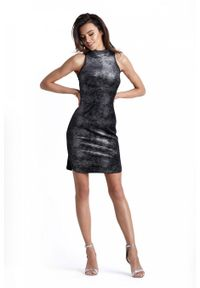 Czarna sukienka wieczorowa IVON mini