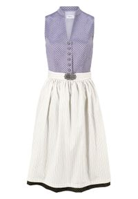 Wygodna sukienka w ludowym stylu bonprix dymny lila. Kolor: fioletowy. Materiał: żakard
